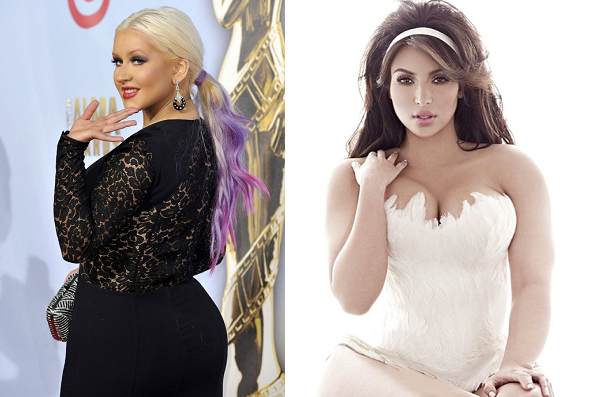 Christina Aguilera and Kim Kardashian
