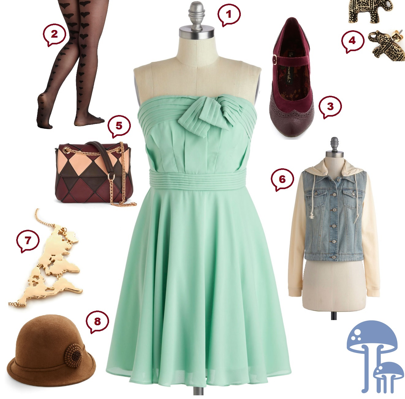ModCloth Outfit Collage