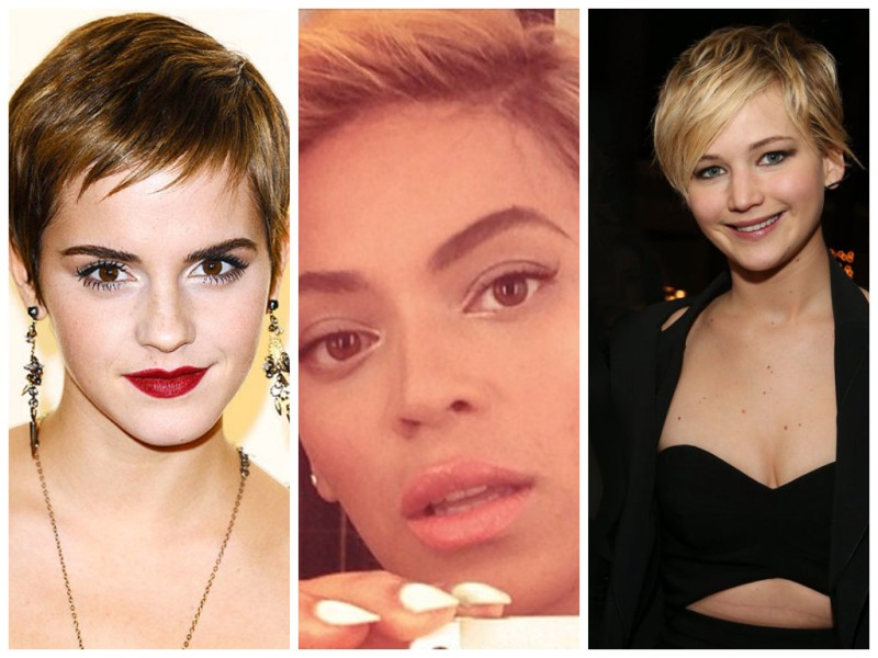 Stars with Pixie Cut